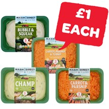 Mash Direct Carrot & Parsnip / Carrot, Parsnip & Turnip / Champ / Bubble & Squeak | 400g