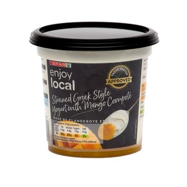 SPAR Enjoy Local Strained Greek Style Yogurt with Mango Compote