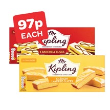 Mr Kipling Lemon Layer / Bakewell Slices | 6 Pack