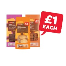 SPAR Mini Chocolate Brownie / Shortbread / Flapjack Bites | 96/104/120g