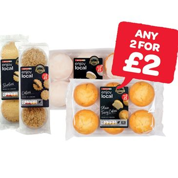 SPAR enjoy local Shorties / Oatmeal / Iced Fairy Cakes / Plain Fairy Cakes / Mini Snowballs | 6 Pack