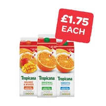 Tropicana Original Orange / Smooth Orange / Orange & Mango / Pineapple | 850ml