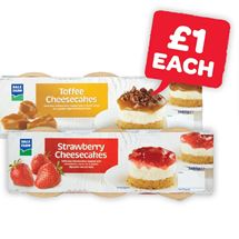 Dale Farm Strawberry / Toffee Cheesecakes 85g | 3 Pack