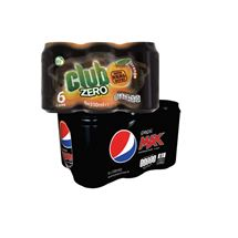 Pepsi Max / Club Zero / 7UP Free 330ml | 6 Pack