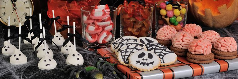 Selection of Halloween Themed Party Snacks