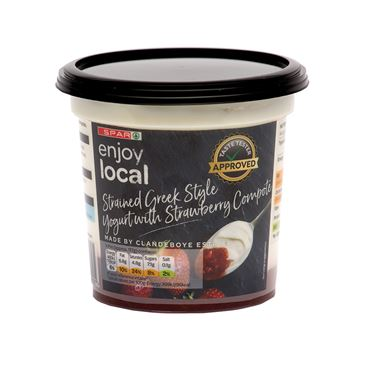 SPAR Enjoy Local Strained Greek Style Yogurt with Strawberry Compote