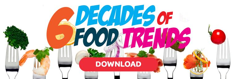 Download our 6 Decades of Food Trends Infographic