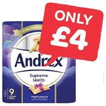 Andrex White / Quilted Toilet Roll | 9 Roll