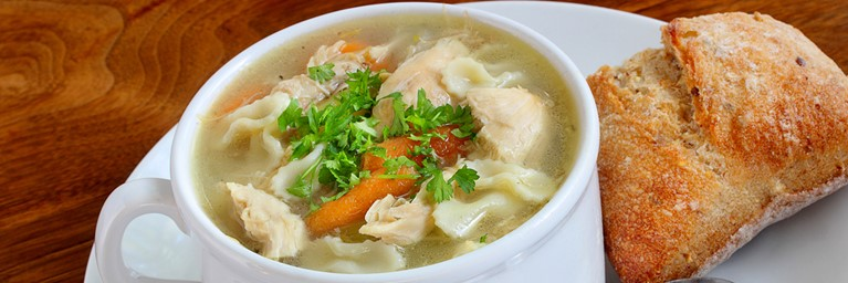 Try this rustic turkey soup from our selection of Christmas leftover recipes
