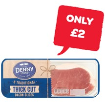 Denny Thick Cut Traditional Bacon 6