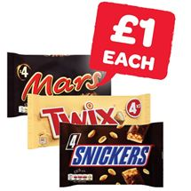 Mars / Snickers / Twix | 4 Pack