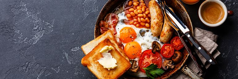 English Breakfast with Toast