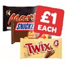 Only £1 | Mars / Snickers / Twix | 4 Pack