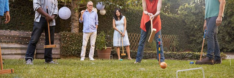 Enjoy a Game of Garden Croquet