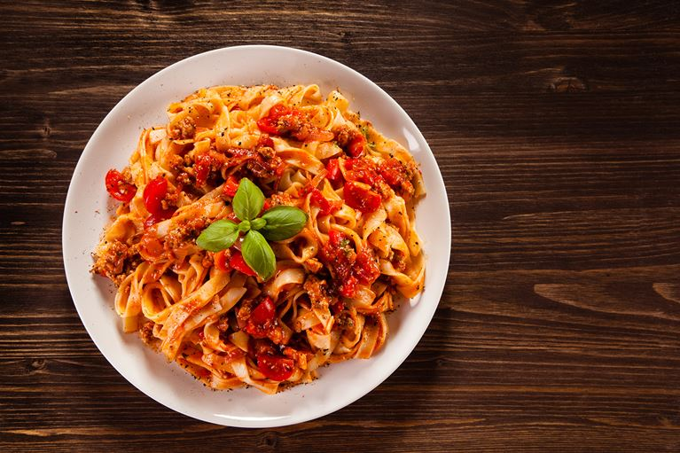 Tomato and Chorizo Tagliatelle