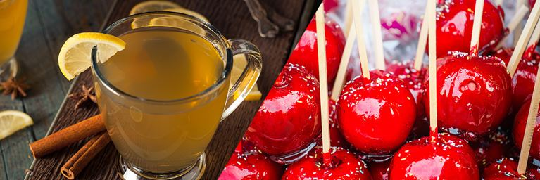 Hot Toddy and Toffee Apples
