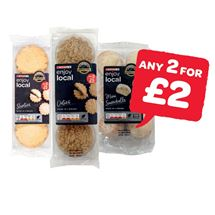 SPAR enjoy local Shorties / Oaties / Plain Fairy Cakes / Iced Fairy Cakes / Mini Snowballs | 6 Pack