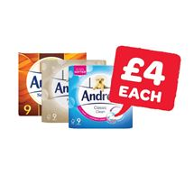 Andrex White / Natural / Gentle Touch | 9 Roll