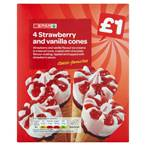 £1,SPAR Strawberry Cone ,4x100ml