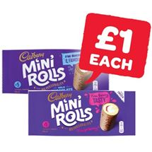 Cadbury Chocolate / Raspberry Mini Rolls | 5 Pack