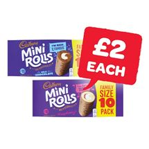 Cadbury Raspberry / Chocolate Mini Rolls | 10 Pack