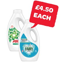 Ariel / Fairy Liquid 24 Wash | 840ml