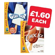 Dale Farm Giant Bar / Choc Ice | 4 Pack