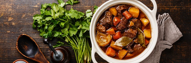 Beef and Vegetable Stew Valentine's Meal Idea