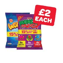 Wotsits / Quavers / Monster Munch 14 For 12 Pack | 14 Pack