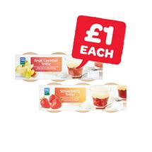 Dale Farm Strawberry / Fruitcocktail Trifle 3 Pack | 110g