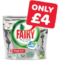 Fairy Platinum Dishwasher Tablets | 18