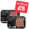 Any 2 For £5 | SPAR enjoy local Beef / Pork Sausages | 400g