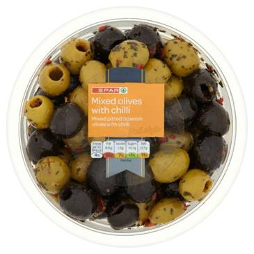 SPAR Mixed olives with chili,180g