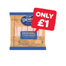 Denny Thin Pork Sausages | 340g