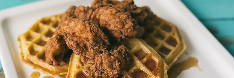 Fried Chicken on Waffles