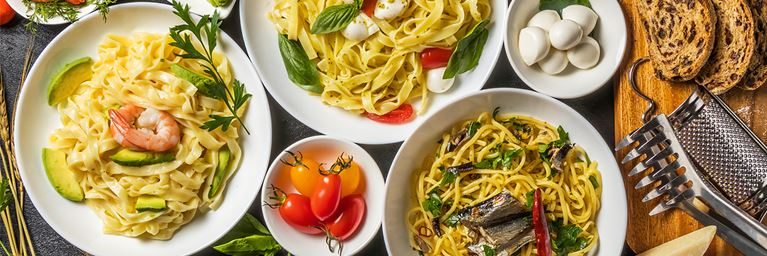 Selection of Pasta Dishes