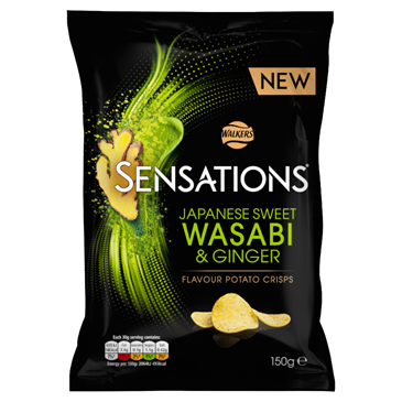 Walkers Sensations  Wasabi & Ginger | 150g