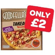 Goodfellas Takeaway Fully Loaded Pepperoni / Cheese / Mighty Meat Feast | 553/555/596g
