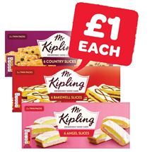Mr Kipling Angel / Bakewell / Country Slices / Viennese Whirls | 6 Pack