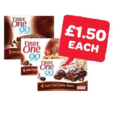 Fibre One Cake / Cake Bars | 4/5 Pack