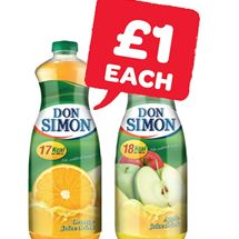 Don Simon No Added Sugar Orange / Apple | 1 Litre