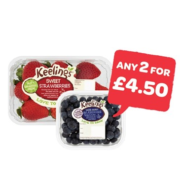 Keeling Strawberries / Raspberries / Blueberries | 125 - 227g